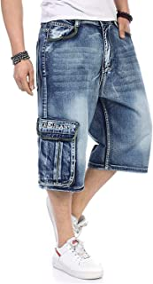 HaiDean Men Shorts Cargo Denim Shorts Big Relaxed Casual Modern Fit and Large Lots Casual Plus Size 30W 46W