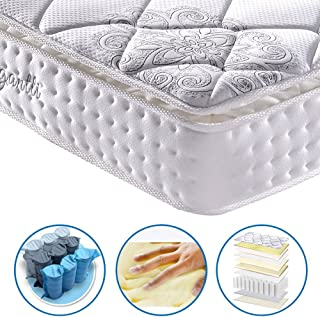 Vesgantti 10.6 Inch Multilayer Hybrid Twin Mattress - Multiple Sizes & Styles Available, Ergonomic Design with Memory Foam and Pocket Spring/Medium Plush Feel