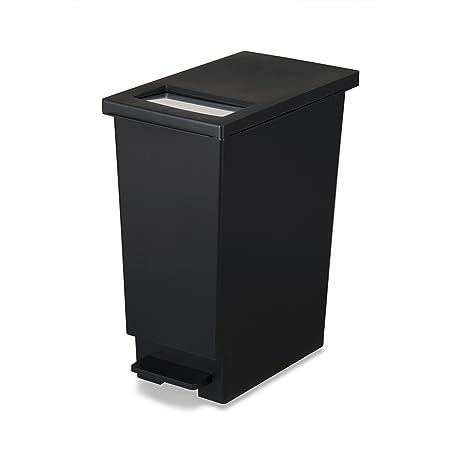 トンボ ゴミ箱 45L 日本製 フタ付き プッシュタイプ ペダル式 ブラック ユニード 新輝合成 45S