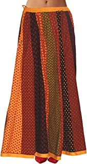 Sttoffa Women's Cotton Skirt(SFKC42-0018-XS_multicoloured_XS)