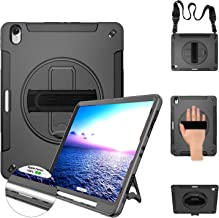 Miesherk iPad Pro 12.9 Case 2018 Heavy Duty Case with Stand+Hand Strap+Shoulder Strap+Pencil Holder Support Apple Pencil Charging Drop Proof for iPad Pro 12.9 Inch 2018 Release (3rd Gen)