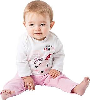 Pijama de dos piezas para niña, algodón, largo, pijama para bebé, pijama pequeño ratón