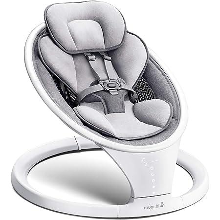 Munchkin Hamaca Bebé Ligera con Bluetooth, Balanceo Natural en Cinco Velocidades y Mando a Distancia