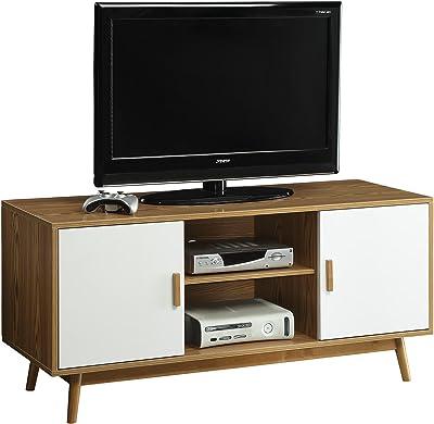 Convenience Concepts Oslo TV Stand, Woodgrain / White