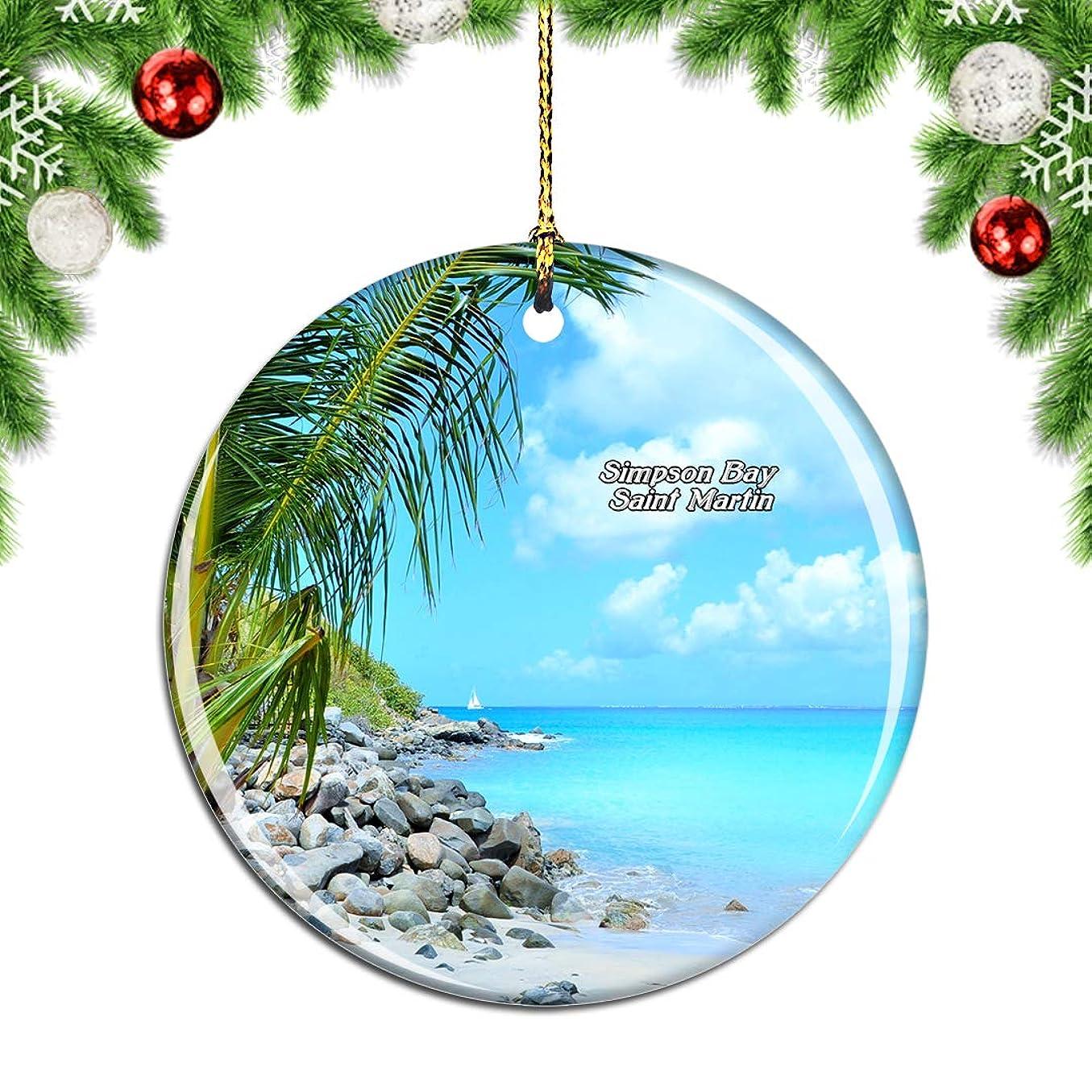 現金スペード哀れなWeekinoシンプソンベイサンマルタン - 副本.pngクリスマスデコレーションオーナメントクリスマスツリーペンダントデコレーションシティトラベルお土産コレクション磁器2.85インチ