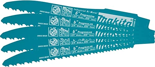 popular Makita 723083-A-5 outlet online sale 6-Inch Prog. Cordless Recip 2021 Blade, 5-Pack outlet online sale