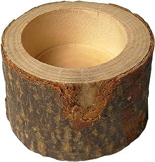 حامل شموع خشبي من YuanSu حامل شموع دائري حامل شجرة عمود طاولة تزيين مناسب للحفلة نزهة الشموع (اللون: M)