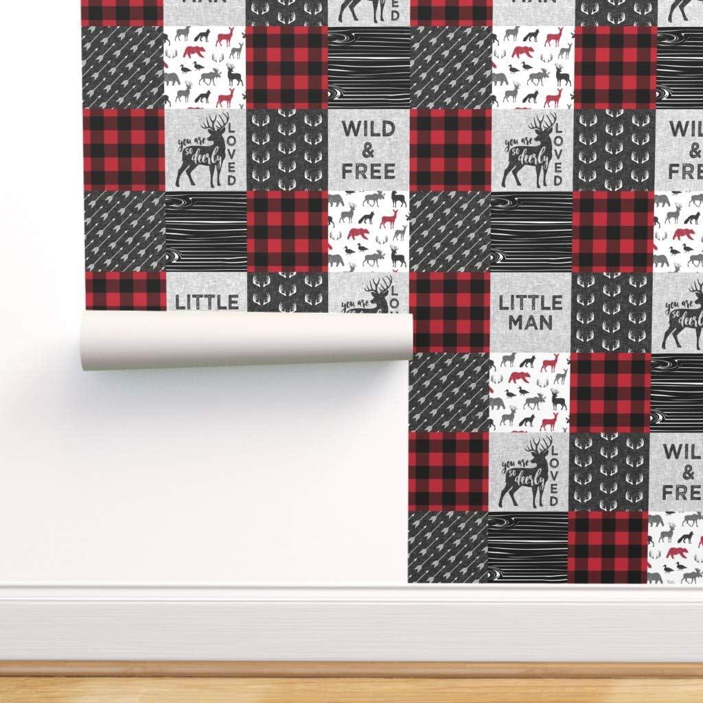 Spoonflower 定番から日本未入荷 Peel and Stick Removable Man Wallpaper Little Buffa (訳ありセール 格安)