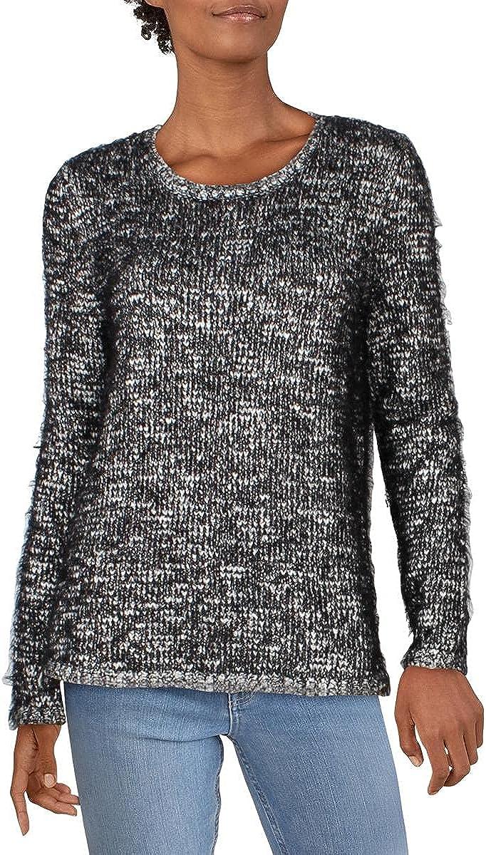 Style & Co. Womens Metallic Eyelash Sweater