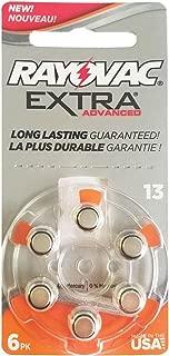 60 Rayovac Extra Mercury Free Hearing Aid Batteries Size: 13 + Battery Holder Keychain Kit