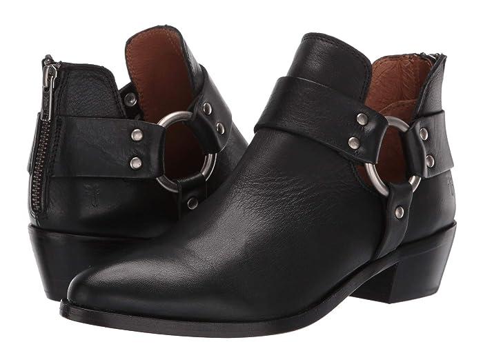 Frye  Ray Harness Back Zip (Black Soft Full Grain) Womens Pull-on Boots