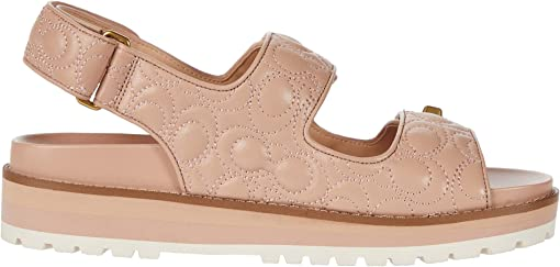 Pale Blush Quilted Leather