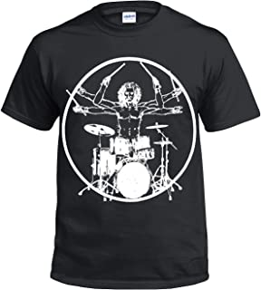 "Baby Drums T-Shirt /""Born with Sticks in my Hands/"" Drum Set Drummer Rock Band"