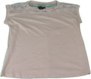 Ladies Size Large Lace Beaded Top Almond Willow