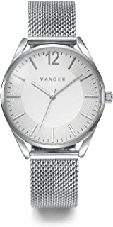 VANDER Womens Watches Fashion Simple Minimalist Waterproof Quartz Analog Watch Designer Luxury Business Classic Dress Wrist Watch Silver