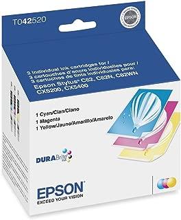 T042520 Epson T042520-Ink Jet Printer Cartridges, Stylus Color 82, Cx5200, Cx5400, 3-Color Multi-Pack