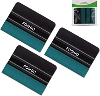 FOSHIO 3Pack Black 4Inch Automotive Felt Squeegee for Auto Vinyl Wrap Window Tint Tool Wallpaper Tool