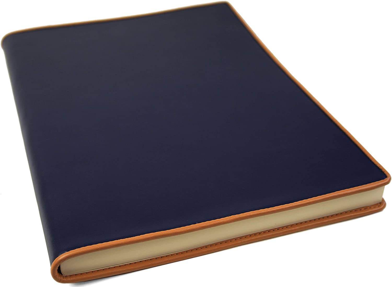 LEATHERKIND Cortona Leder Notizbuch Marineblau, A4 Liniert Seiten - Handgefertigt in Italien B0054LCQKW  | Lebhaft