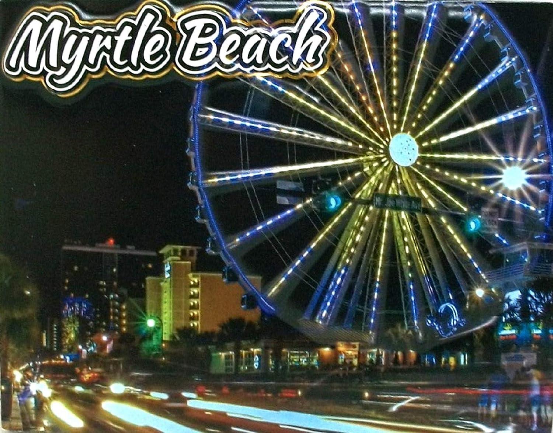 Indianapolis Mall Myrtle Beach Skywheel Night Max 61% OFF Magnet Scene Fridge Highlight