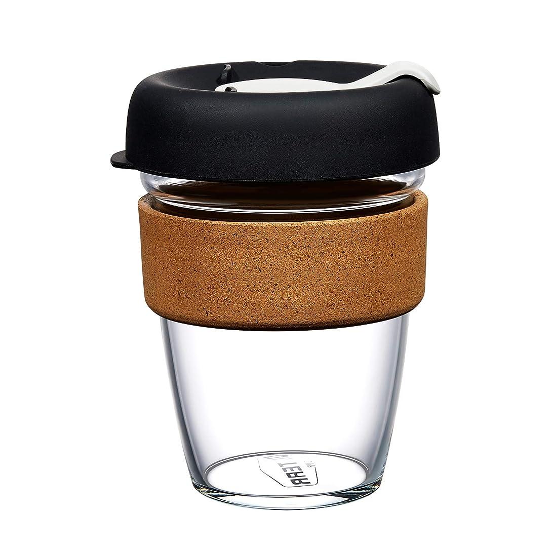 関与するエンターテインメントぶどうOcterr コーヒーカップ コンビニマグ 携帯カップ グラス ガラスカップ タンブラー 耐熱 持ち運び アウトドア 蓋付き コルクカバー 滑り止め プレゼント ビジネス 340ml ブラック