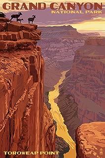 Grand Canyon National Park, Arizona - Toroweap Point (9x12 Art Print, Wall Decor Travel Poster)