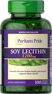 Puritan's Pride Soy Lecithin 1200 mg-100 Rapid Release Softgels