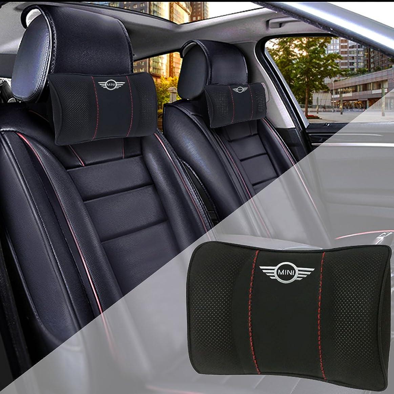 溶岩続けるチューブBMW MINI ネックパッド クッション 車用 低反発 耐久性に優れる 高い質感 ネックピロー ドライブ 頚椎サポート 枕 BMWミニ 専用