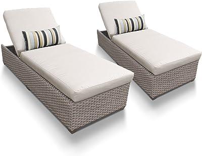 Amazon.com: Bowery Hill de patio chaise lounge en gris ...
