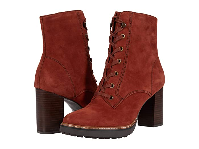 Vintage Boots, Retro Boots Naturalizer Callie Terracotta Suede Womens Boots $169.95 AT vintagedancer.com