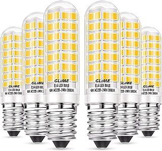GLIME E14 LED Lampe 6W LED Leuchtmittel statt 60W Halogenlampe 88 LEDs Glühlampe 550lm Warmweiß Birne 360° Abstrahlwinkel ...