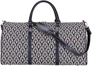 Signare Tapestry Large Duffle Bag Overnight Bags Weekend Bag for Women with Luxor Art Deco Style