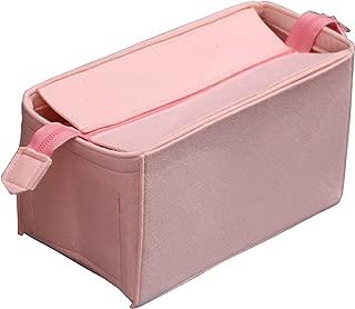 [Fits Neverfull MM/Speedy 30, Rose Ballerine] Felt Organizer (with Top Zipper), Bag in Bag, Wool Purse Insert, Customized Tote Organize, Cosmetic Makeup Diaper Handbag