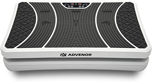 ADVENOR Vibration Plate Exercise Machine 3D Whole Body Workout Fitness Platform with Loop Bands Silent Motor Speed Co...