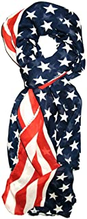 LibbySue-Red, White and Blue, Patriotic American Flag Scarf