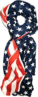 Red, White and Blue, Patriotic American Flag Scarf