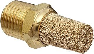 "Parker EM25-90 EM Series Sintered Bronze Muffler/Filter, 1/4"" NPT Male, 9/16"" Hex Size, 250 psi"