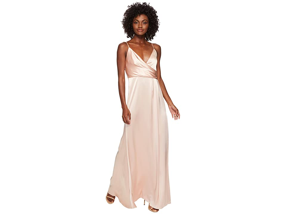 JILL JILL STUART Satin Back Crepe Slip Dress (Rosy Nude) Women