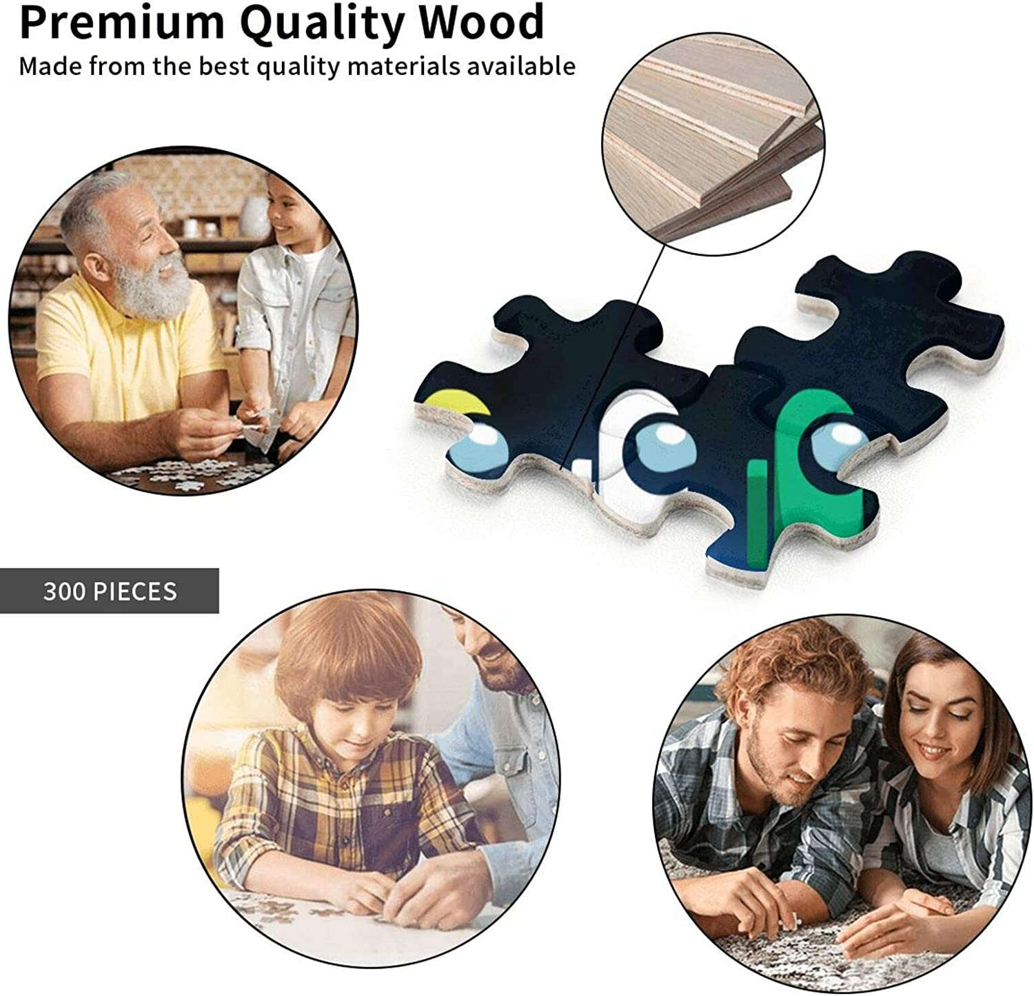 Among Us Puzzles 300 Piece Jigsaw Puzzles Can Fit Together Perfectly Adult Child Educational Toys and Fun Games