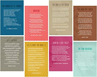 English, Literature, Writing Classroom School Art Quote Posters, Mother Teresa, Roosevelt, Invictus, St Francis Assisi, Frost, Statue of Liberty, How Do I Love, Man in the Arena 12x18 Inches Set of 8