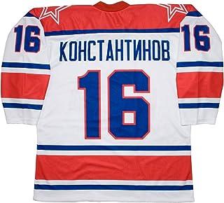 Vladimir Konstantinov Moscú rojo ejército 1997ruso blanco Hockey Jersey