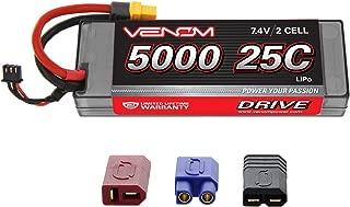 Venom 25C 2S 5000mAh 7.4V Hard Case LiPo Battery with Universal Plug 2.0 (Traxxas / Deans / EC3)