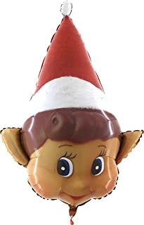Toyland 34 Inch Naughty Elf Christmas Shaped Foil Balloon - Inflate with Air or Helium