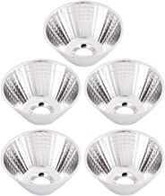 uxcell 5Pcs COB LED Flashlight Reflector Collimator Light Lamp Holder 50x25x11mm Silver Tone