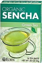 Eden Organic Green Tea, Sencha, Tea Bags, 16-Count Boxes (Pack of 12)