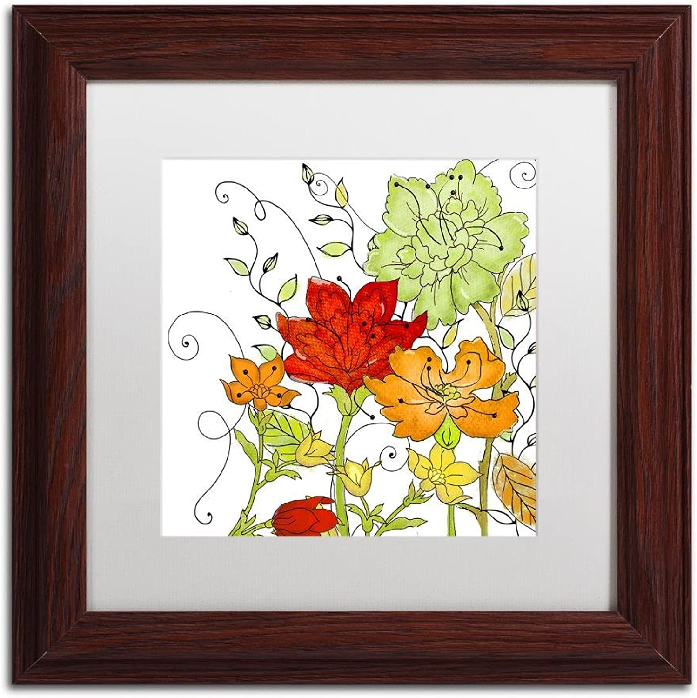 Trademark Fine Art ALI4684W1111MF Aria I by color Bakery, White Matte, Wood Frame 11x11