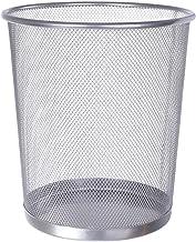 Minkissy Metal Round Mesh Trash Can Waste Bin Garbage Container Round Wastebasket Litter Organizer Garbage Can for Office ...