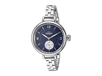 Shinola Detroit 34 mm Birdy Sub Second (Midnight Blue/Silver Bracelet) Watches