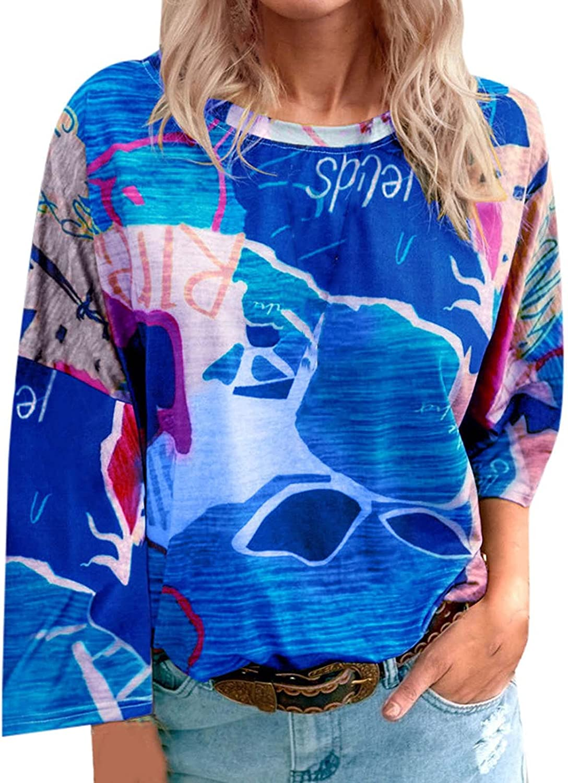 Cute Graffiti Long Sleeve Shirts for Women Autumn Casual Round Neck Blouses Tee Tops Trendy T Shirts Sweatshirt