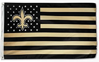 WHGJ New Orleans Saints NFL 3x5 FT Flag Super Bowl Stars and Stripes Indoor/Outdoor Sports Banner