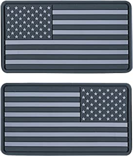 Helikon-Tex USA Large PVC Subdued Flag Patches (Set of 2) Gray
